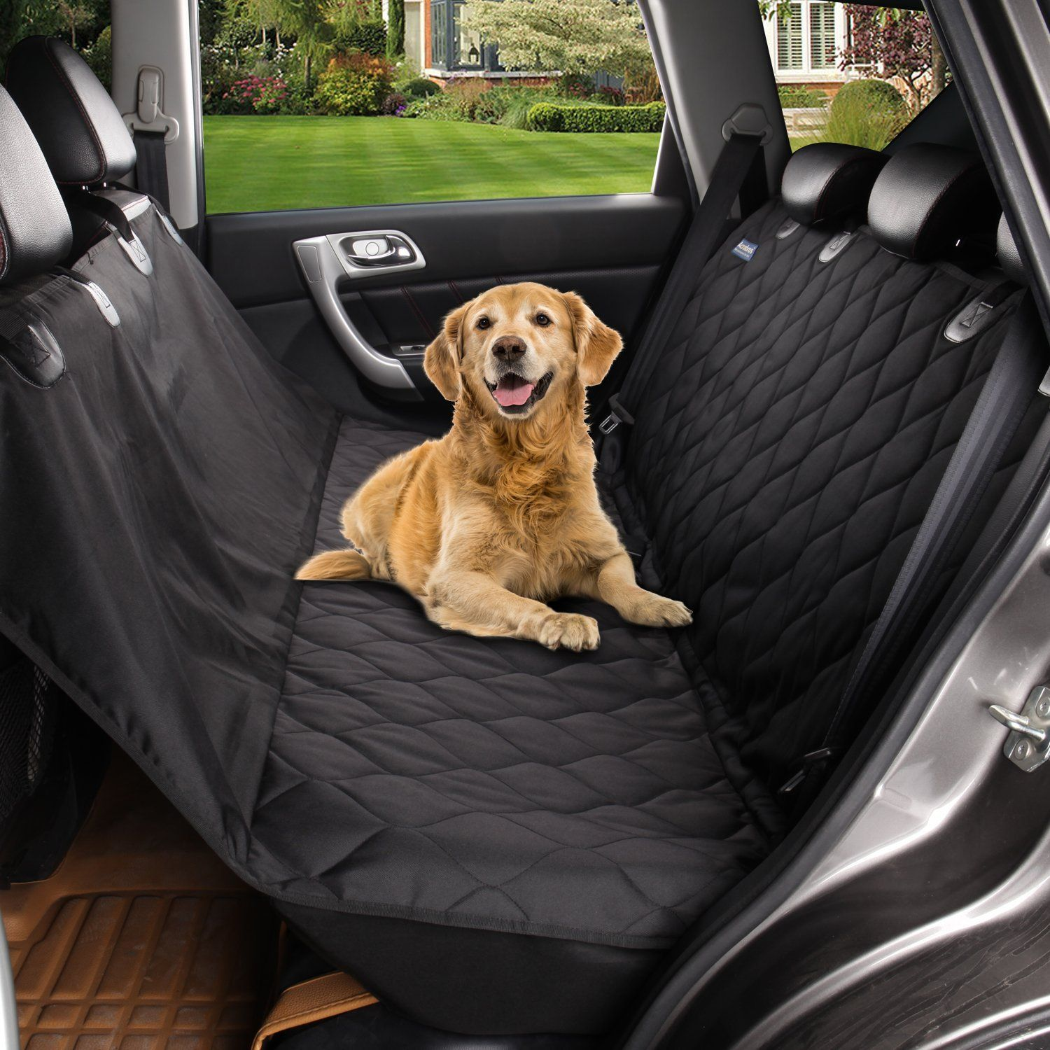 pillow car mat covers pet suvs with waterproof travel hammock for cars large products a backseat pawow trucks most dog seat black cover