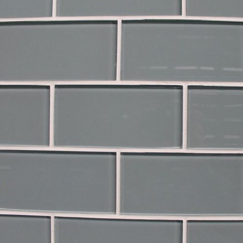 Daltile, ColourWave In Smoked Pearl 3x6, CW1736 Glaeserne U Bahn Fliese  Rueckwaende