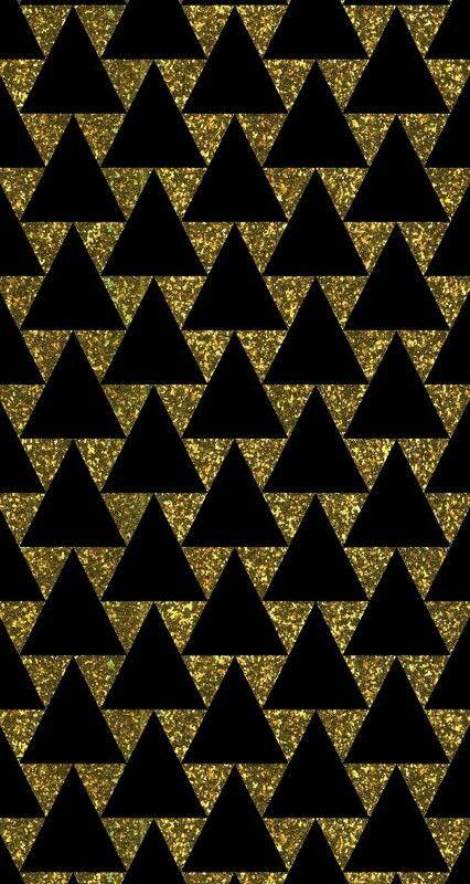 Black Gold Triangle Pattern Phone Wallpaper Gold And Black Wallpaper Gold Phone Background Phone Wallpaper