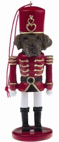 POODLE Black Dog Soldier Holiday NUTCRACKER ORNAMENT