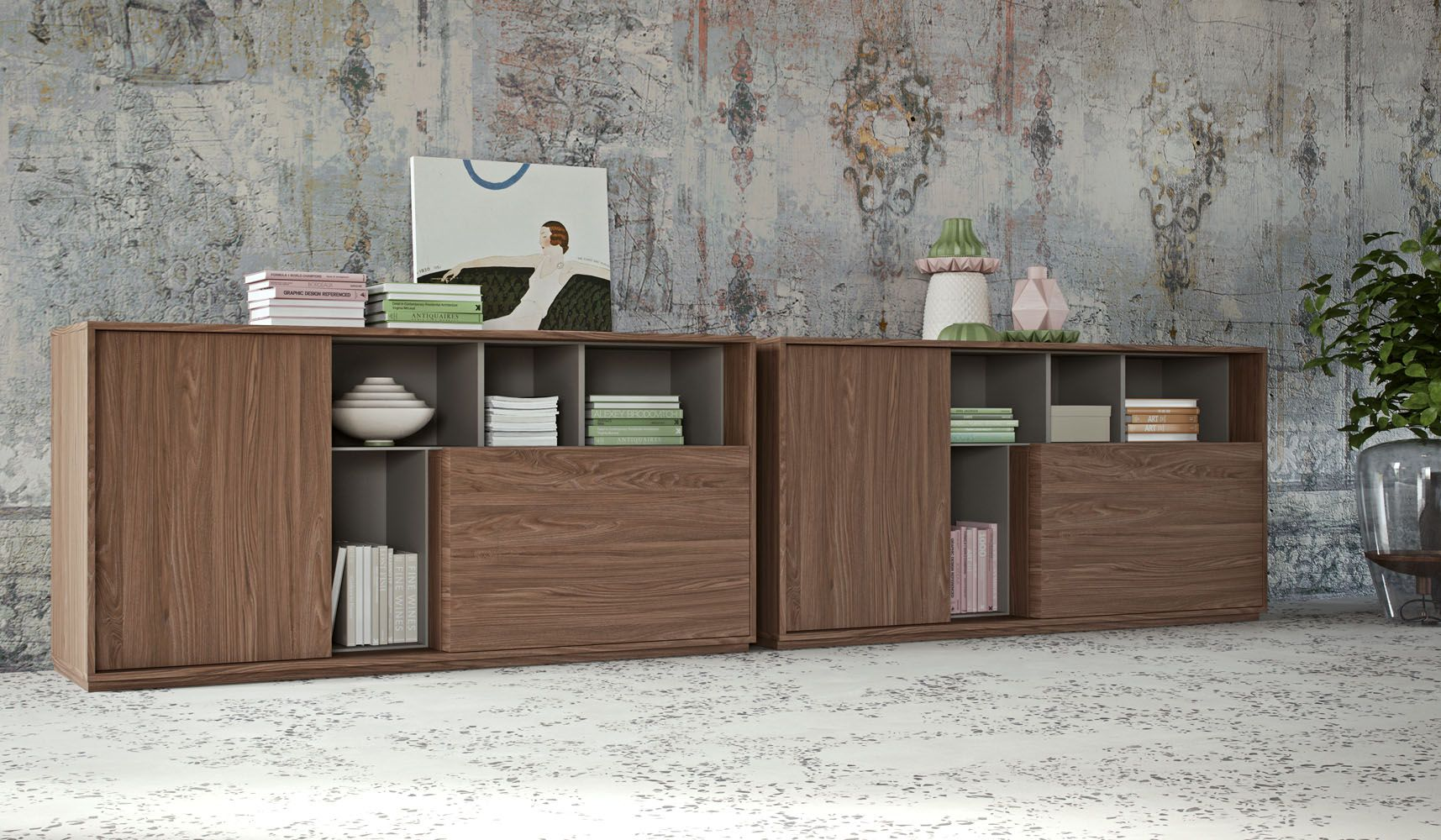 Sessanta Executive Office Low Cabinets