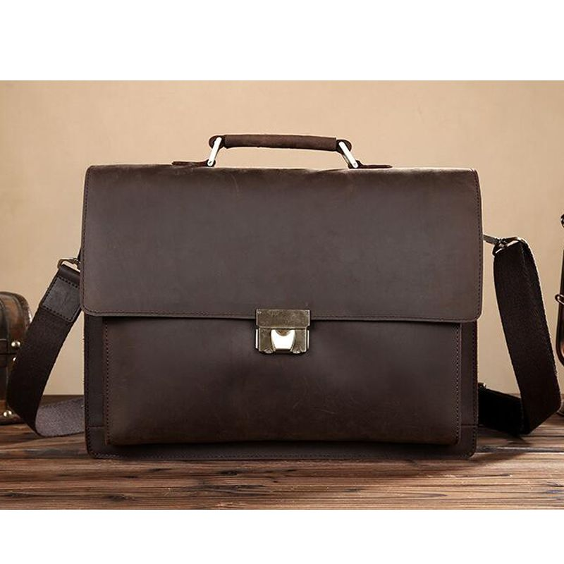 Travel Large Capacity Bag Mens Office Lawyers Briefcase Laptop Business Slim Shoulder Cross-Body Bags Briefcase for Men