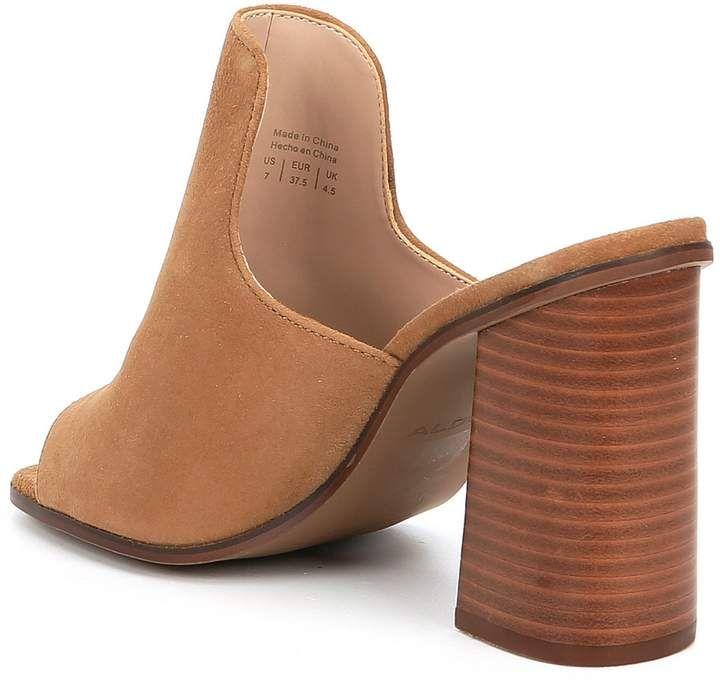 2bf40b7df1712 Aldo Legossa Suede Block Heel Peep-Toe Mules #Suede#Block#Aldo ...