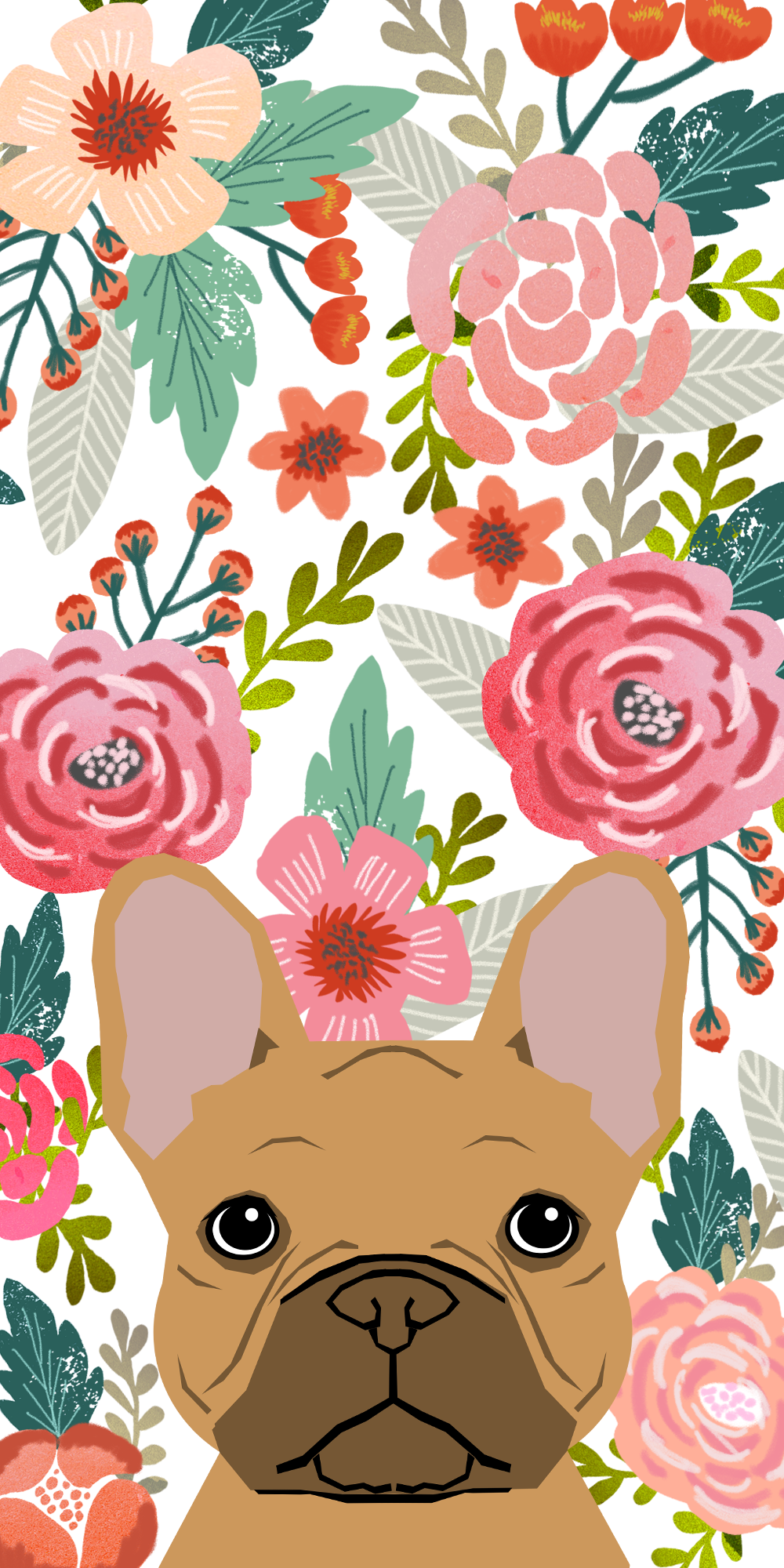 Casetify Floral Bulldog Animals Dogs Cute Art