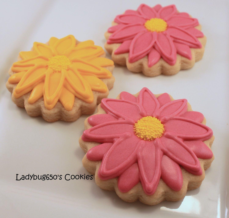 Gerber daisy | Gerber Daisies | Pinterest | Luau cookies, Sugar ...