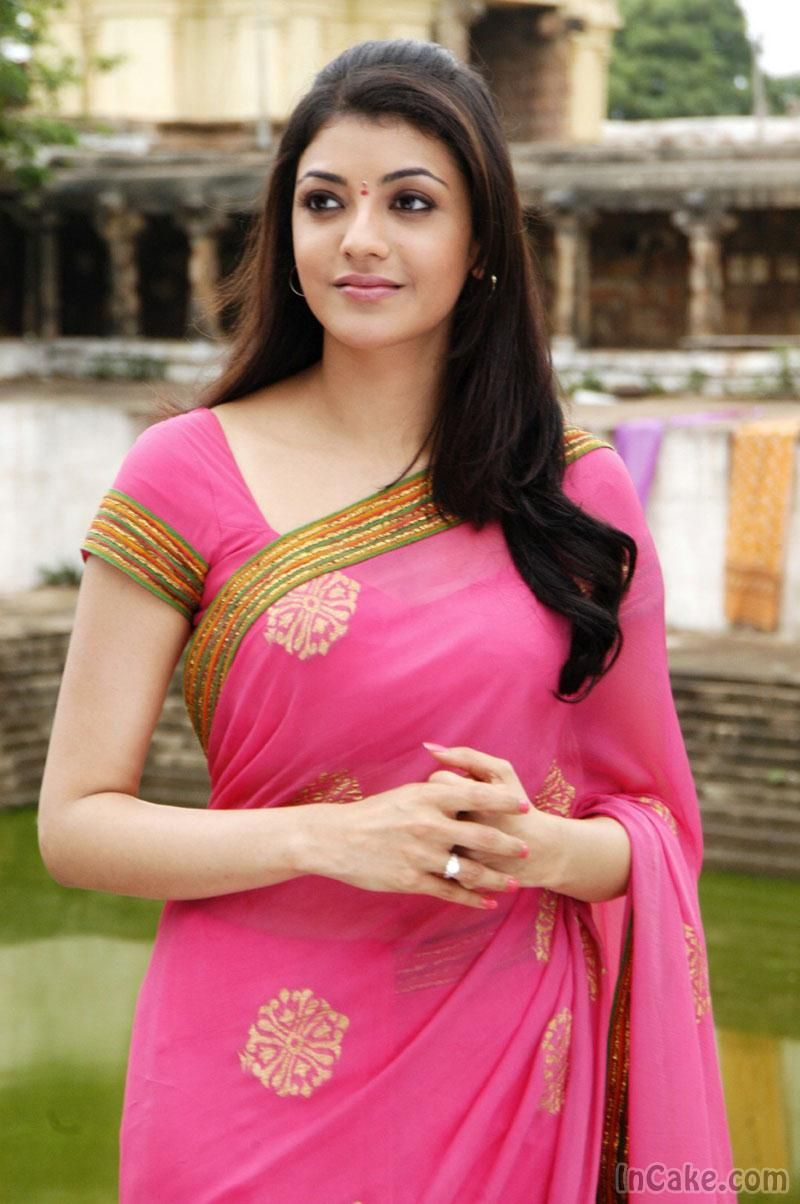 Kajal Agarwal In Pink Saree Veethi Beautiful Indian Actress Kajal Agarwal Saree Indian Actresses