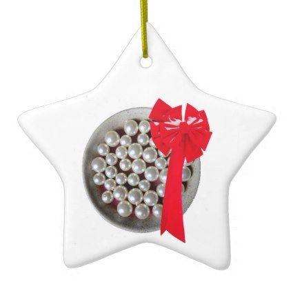 Beads and Bow 2018 Ceramic Ornament   merry christmas diy xmas