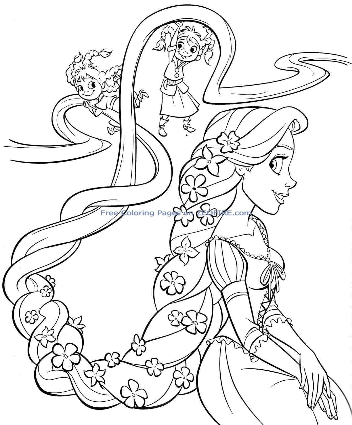 Disney Princess Coloring Pages Rapunzel From The Thousands Of Images On The Net Regarding Tangled Coloring Pages Ariel Coloring Pages Disney Coloring Sheets