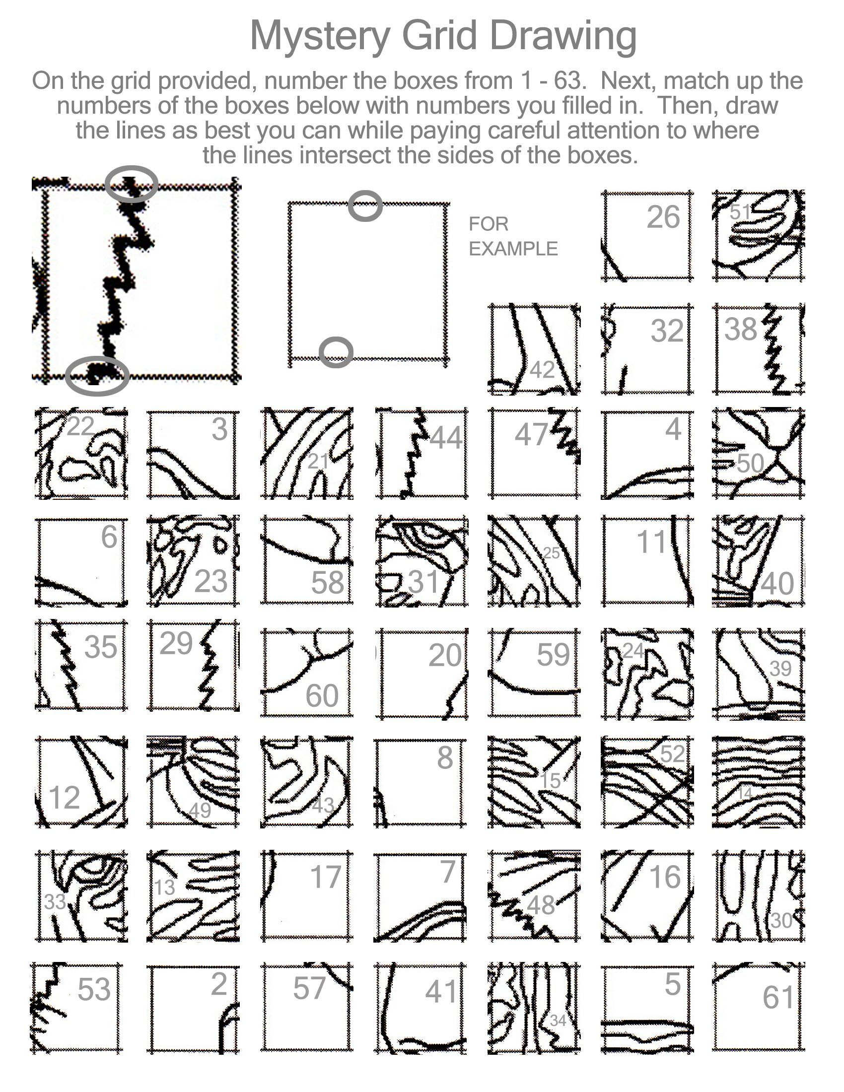 Grid Drawing Activity 25 Worksheet