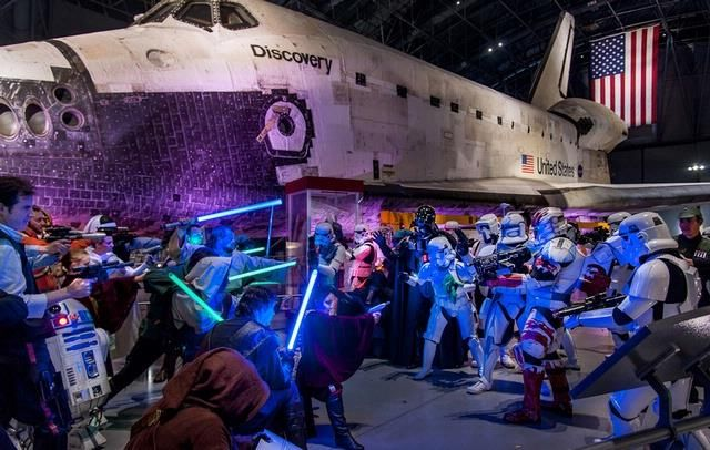 Every year members of Freedom Base participate in Air and Scare at the Smithsonian's Air and Space Museum.