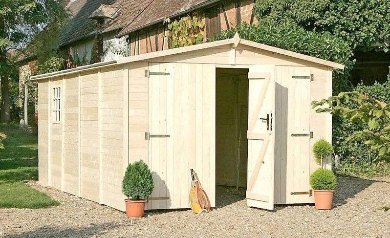 Garage en bois 3m x 5m- ALBATROS 15m² Porte avec serrure - ManoMano - Montage D Un Garage En Bois
