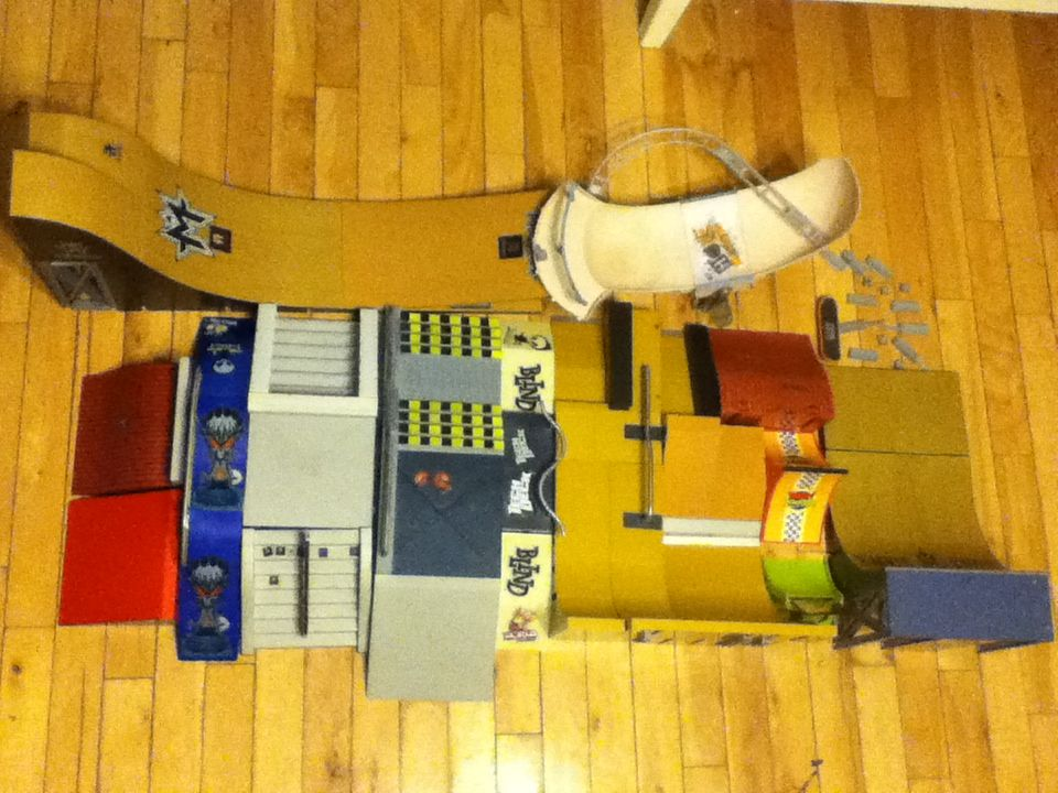 Huge Lot Tech Deck Ramps And Rails Includes Tony Hawk Ramps