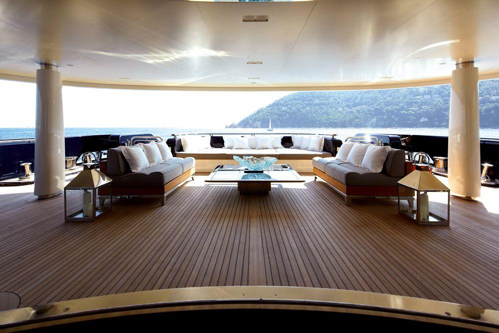 main deck - teak decking storm lanterns. #superyacht #yacht, Innenarchitektur ideen