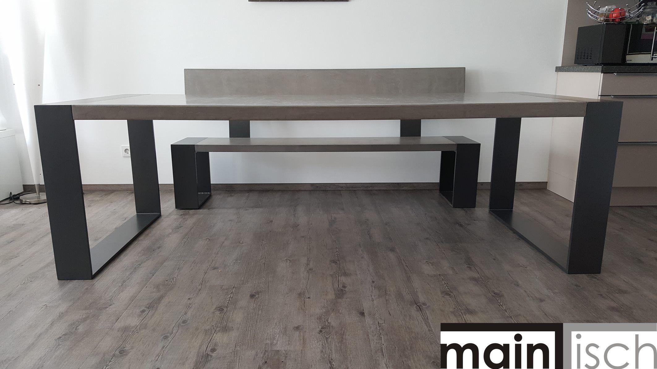 Betontisch / Tisch aus Beton / Esstisch / Schreibtisch / Sitzbank ...