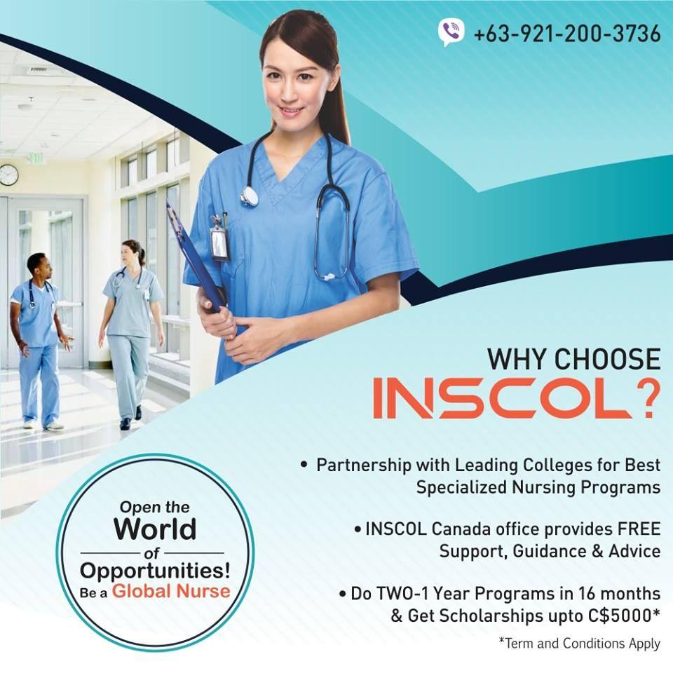 Inscol Provides The Best Service For Nurses Internationally So Choose The Best For Your Global Nursing Career Insco Nursing Programs Nurse Emergency Care