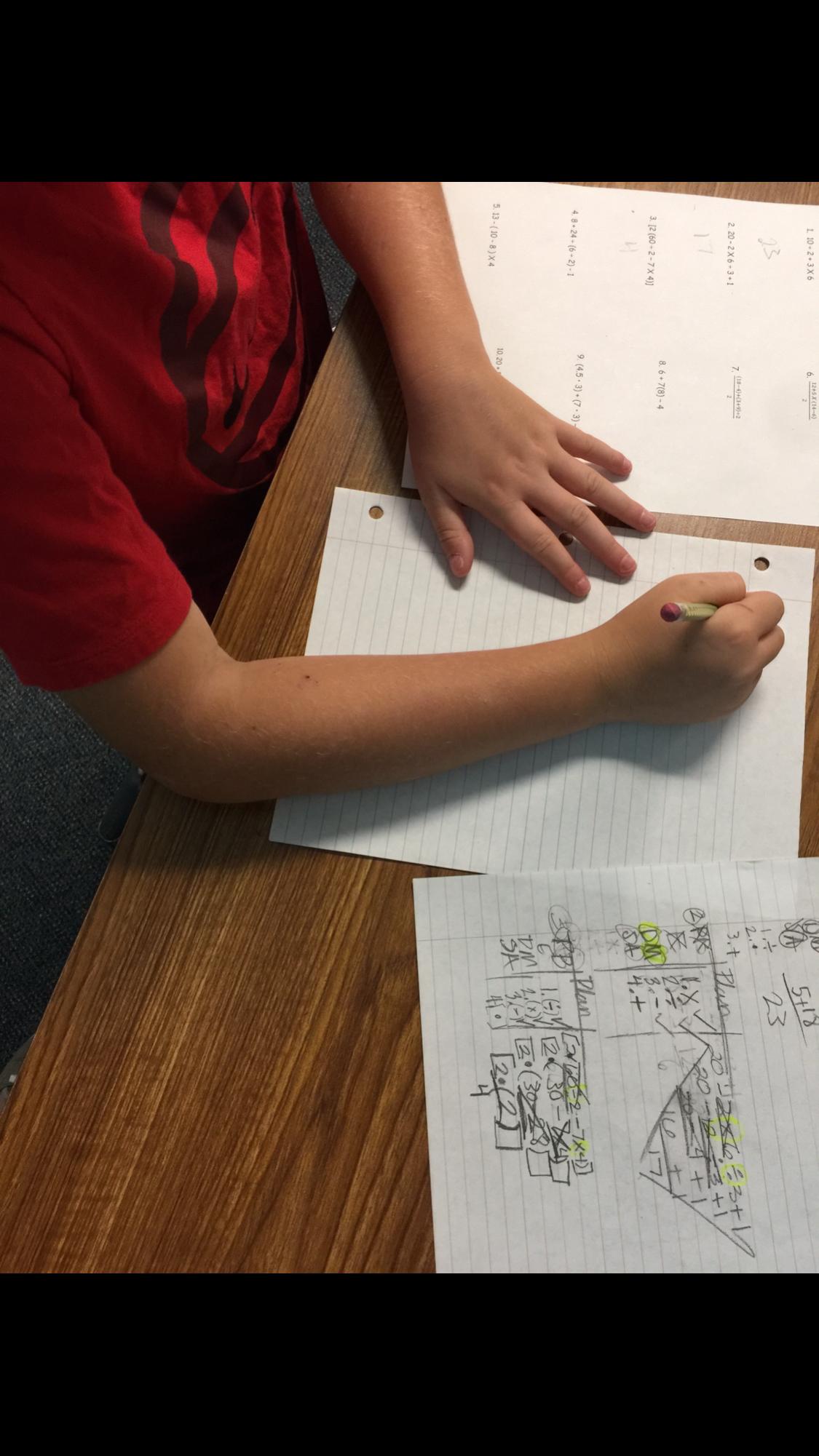 Order Of Operations Thinking Mat 5th Grade Math Life