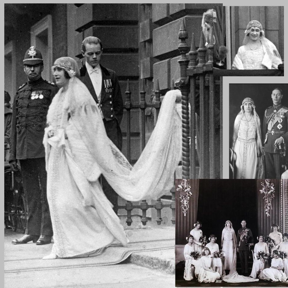 Image History Wedding Dress Lady Elizabeth Bowes Lyon Queen Of England Queen Mother Royal Wedding Gowns Royal Brides