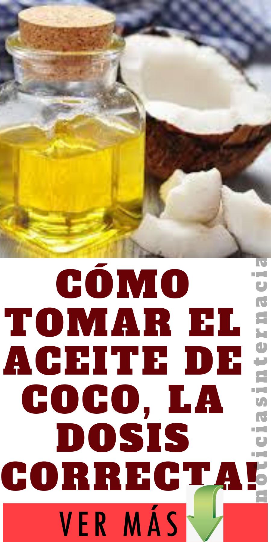 Cómo tomar el aceite de coco, la dosis correcta! salud