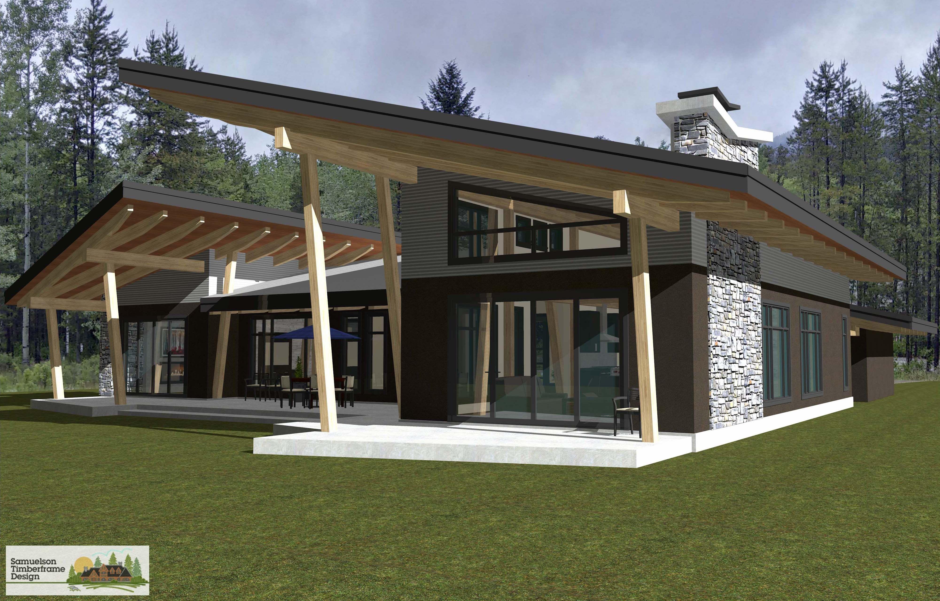 Samuelson Timberframe Design - West Coast Contemporary ...