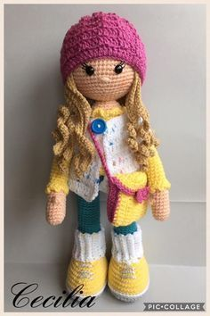 Molly Doll crochet pattern #amigurumidoll
