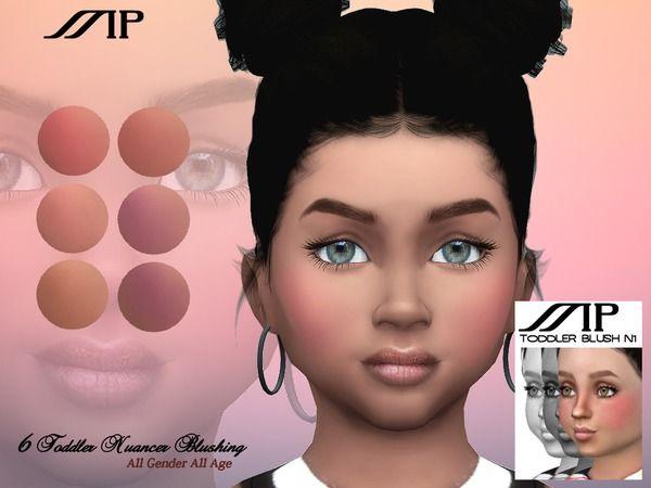 Martyp S Mp Toddler Nuancer Blushing N1 Sims 4 Mods The Sims Maquiagem Para Criancas