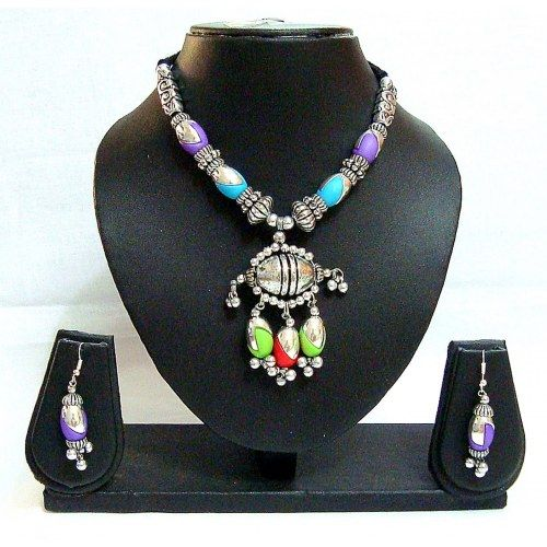 Garba Dandiya Navratri Necklace Set Multicolour 132 - Online Shopping for Necklaces by Diva Jewels - Online Shopping for Necklaces by Diva Jewels - Online Shopping for Necklaces by Diva Jewels