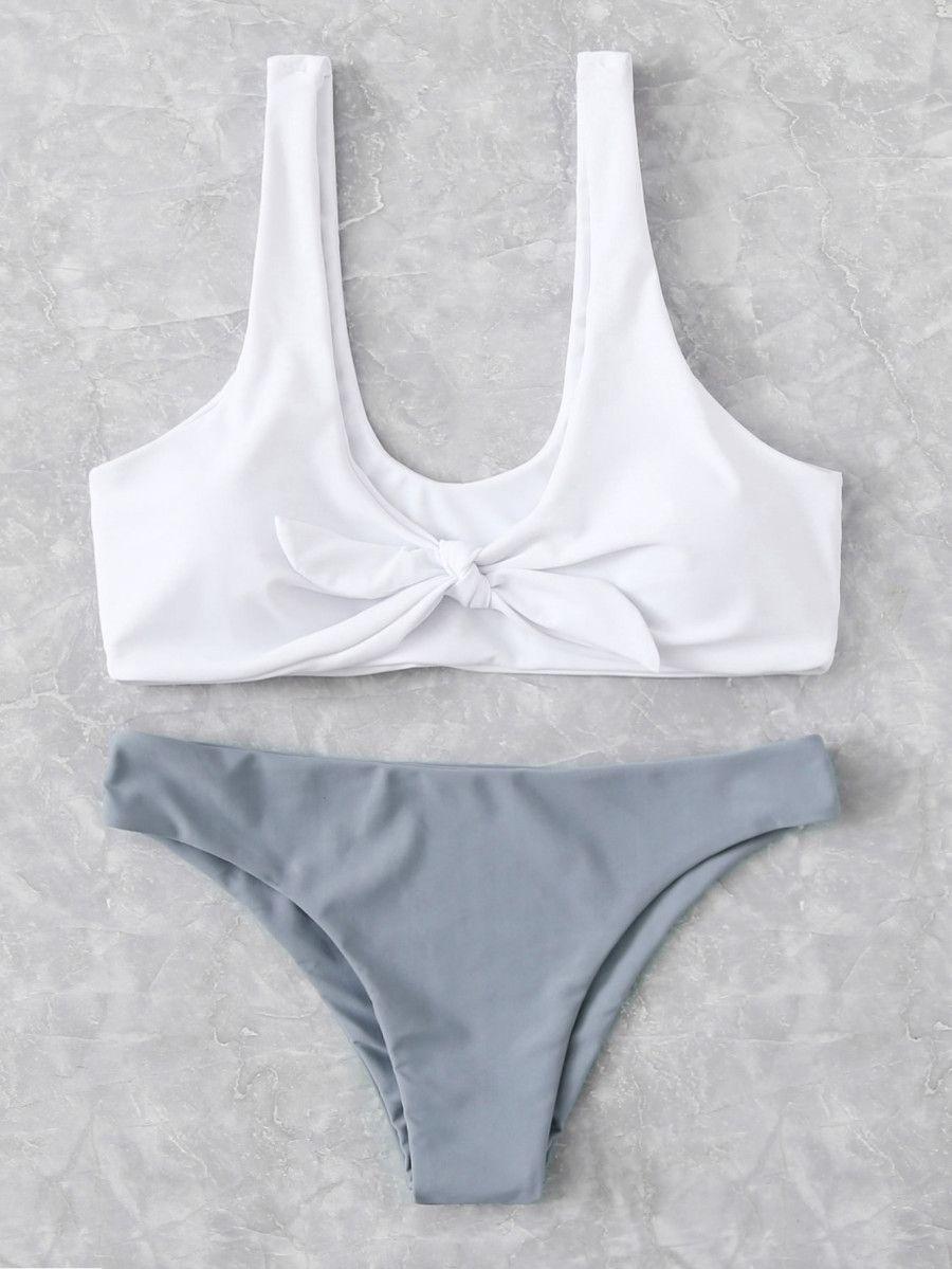 8e719e8610 Mix And Match Knot Bikini Set -SheIn(Sheinside) | ☓ sw!m ˎˊ ...