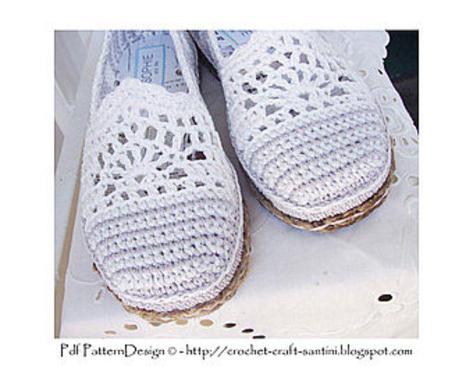 схема вязания крючком обувь