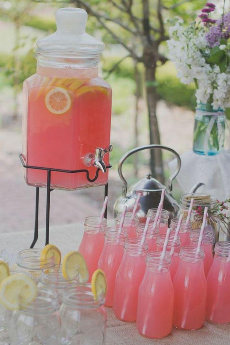 Tischdeko Gartenparty Deko selber machen Getränke | Idea Journey ...