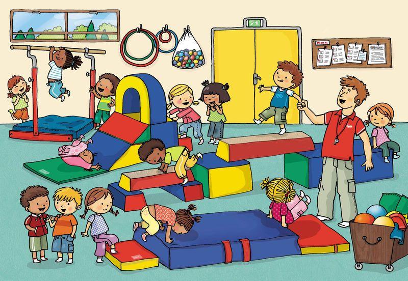 Láminas para trabajar la descripción de escenas y personajes, construcción de frases y buscar objetos y acciones