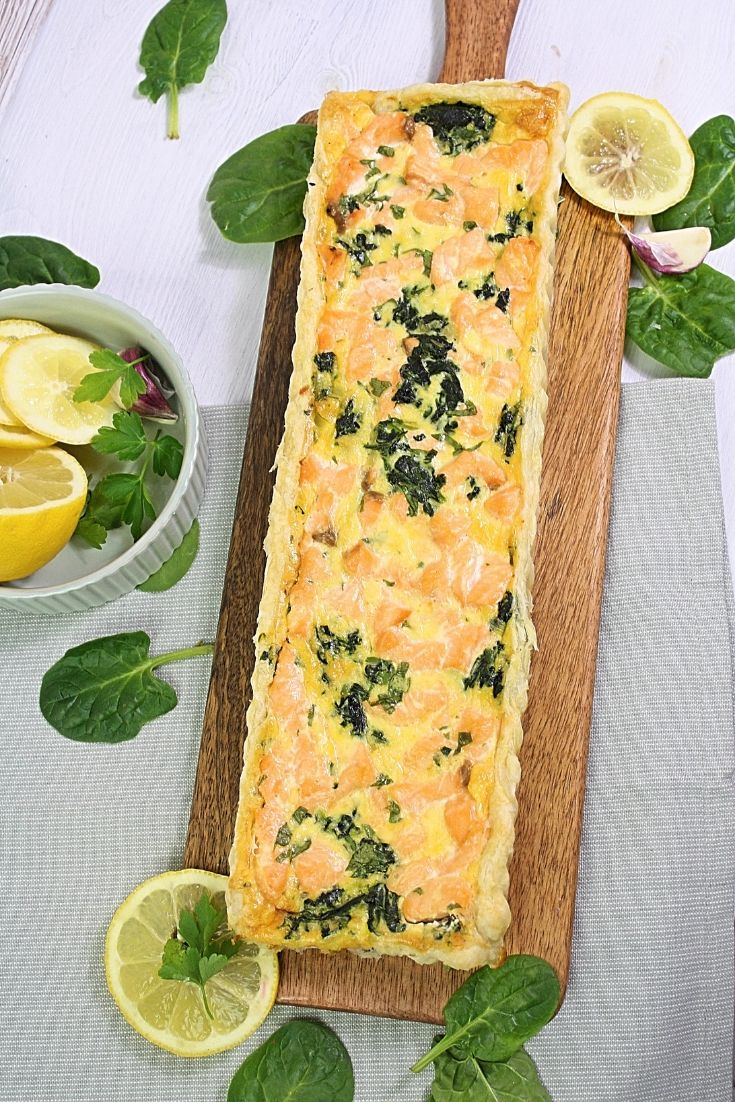 Photo of Spinat Lachs Quiche