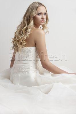 Stock photo: Blonde bride