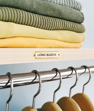 Employ a label maker (and gold plates for an extra touch) for the ultimate closet organization.