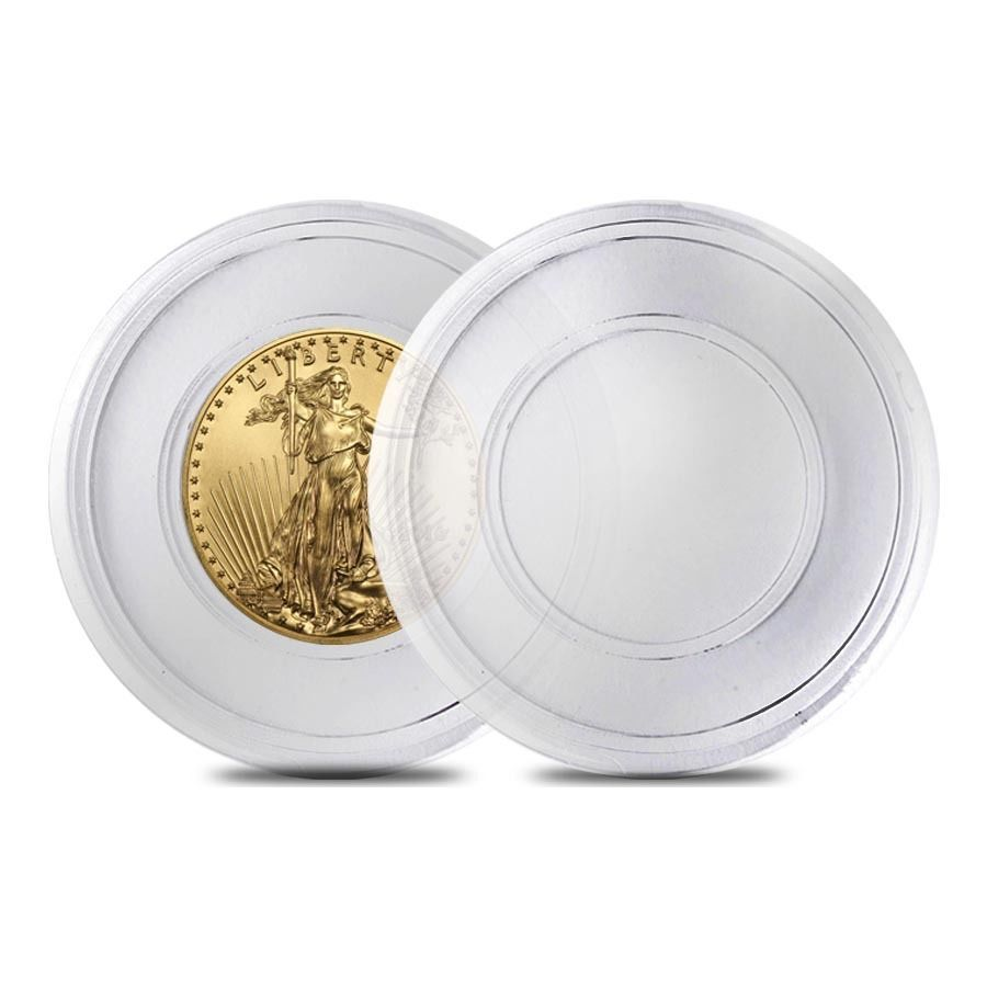 16 5 Mm Empty Coin Capsule For 1 10 Oz Gold Eagle Coins Gold Eagle Coins Gold Eagle Mint Gold