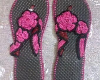 Bonitas sandalias de Crochet para niños tamaño por CrochetSandalsKE