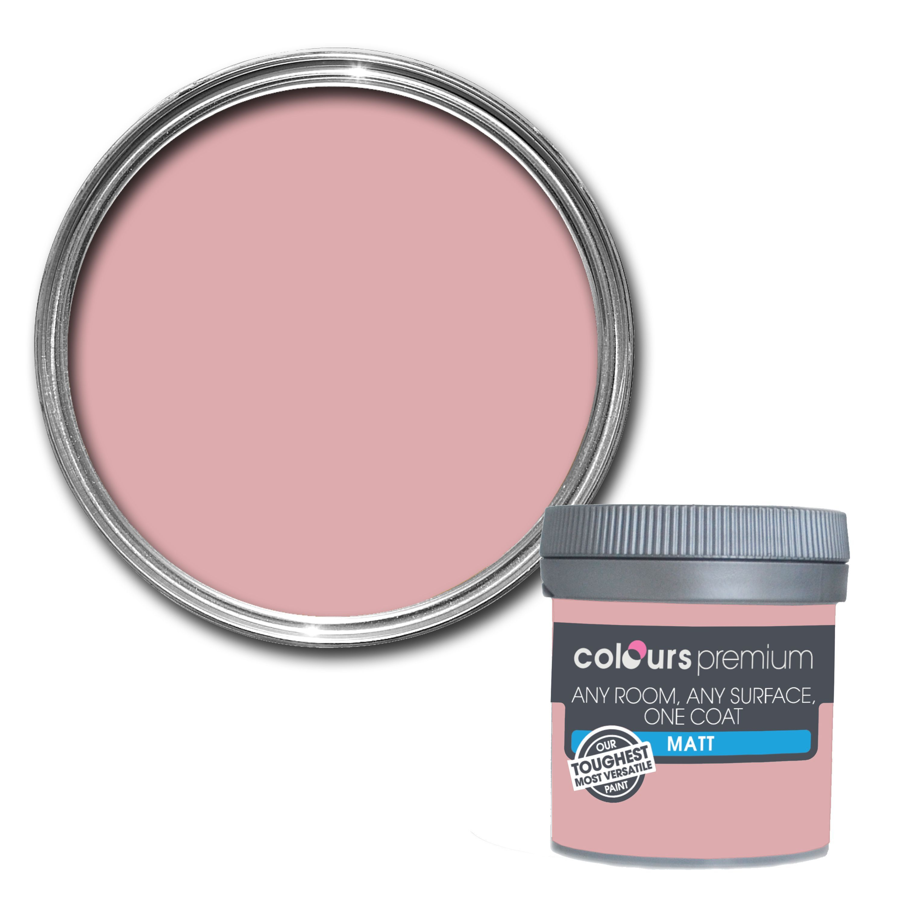 Colours Premium Any Room One Coat Powder Pink Emulsion Paint 50ml Tester Pot Departments Diy At B Q Pink Paint B Q Colours