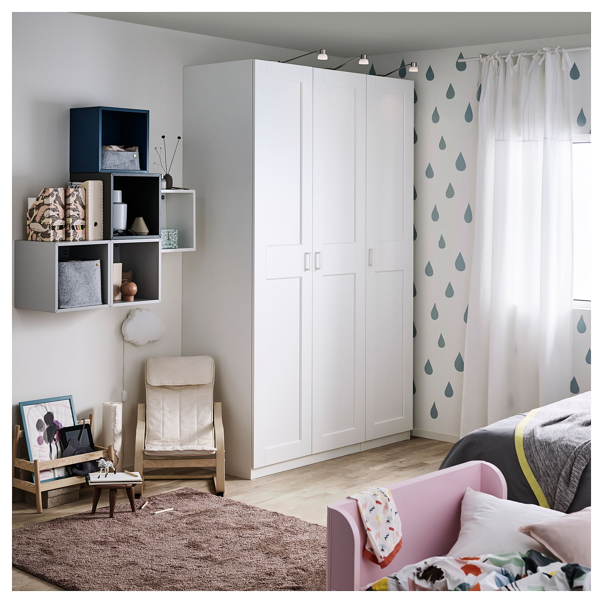 Ikea Wardrobe Leaning To One Side Pax Wardrobe White Grimo White Products In 2019 Ikea