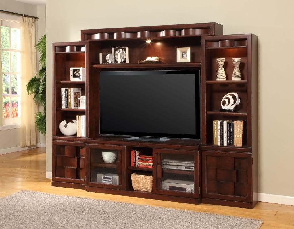 How To Decorate A Dark Wood Wall Unit Google Search Parker