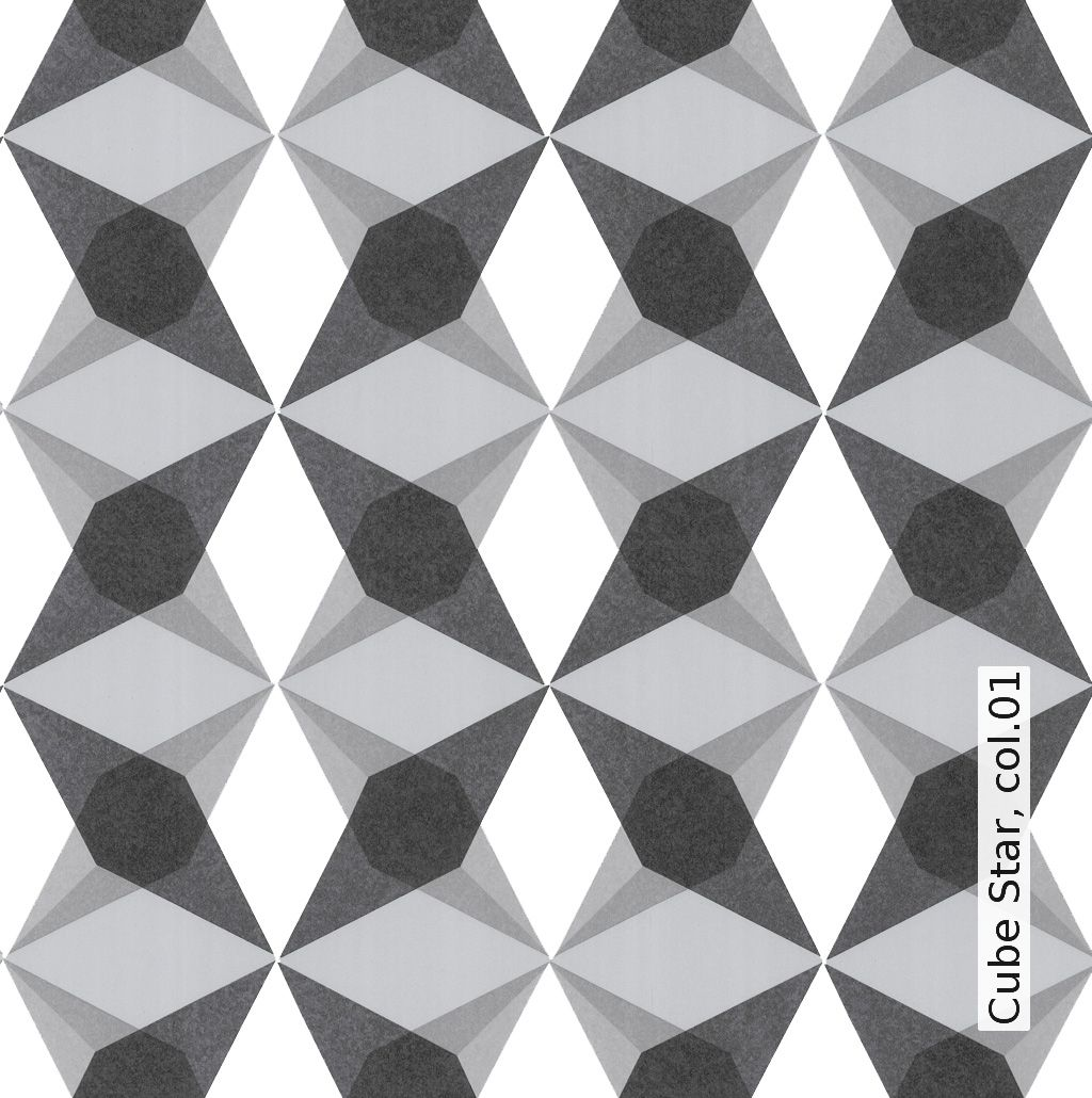Tapete: Cube Star, col.01 - TapetenAgentur