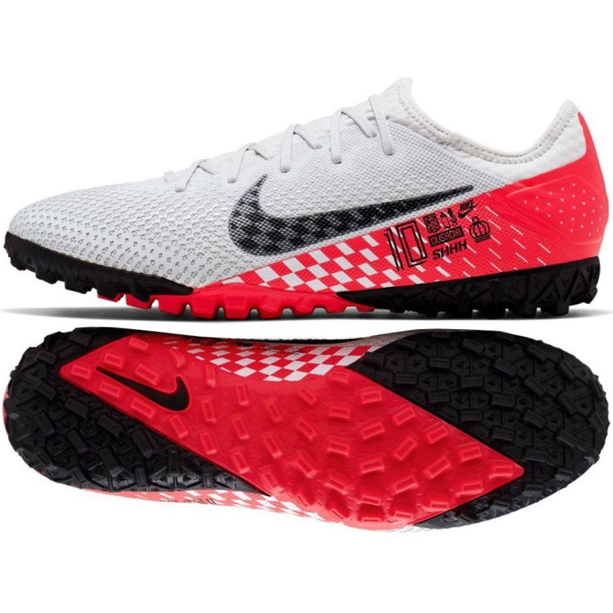 Buty Pilkarskie Nike Mercurial Vapor 13 Pro Tf Neymar M At8003 006 Biale Biale Football Shoes Nike Nike Football