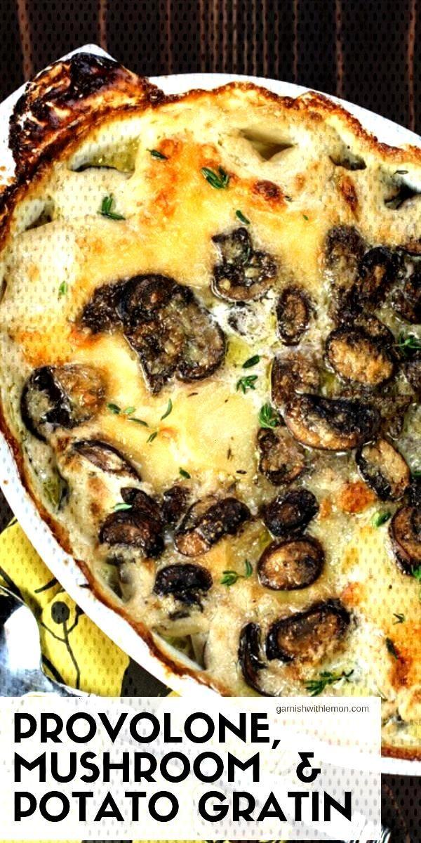 Mushroom amp Potato Gratin recipe - Garnish with Lemon - Cheesy potatoes get a whole new look with t
