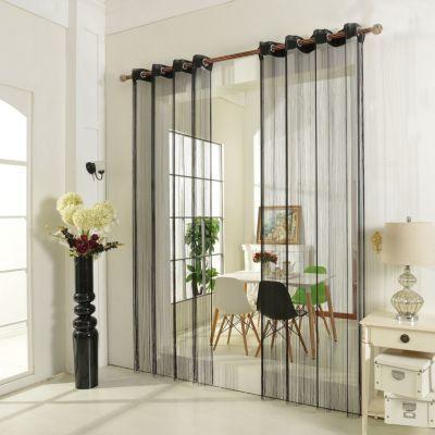 Vorhänge Für Regale fadenstore fadengardine vorhang mit ösen raumteiler 140 x 250 cm