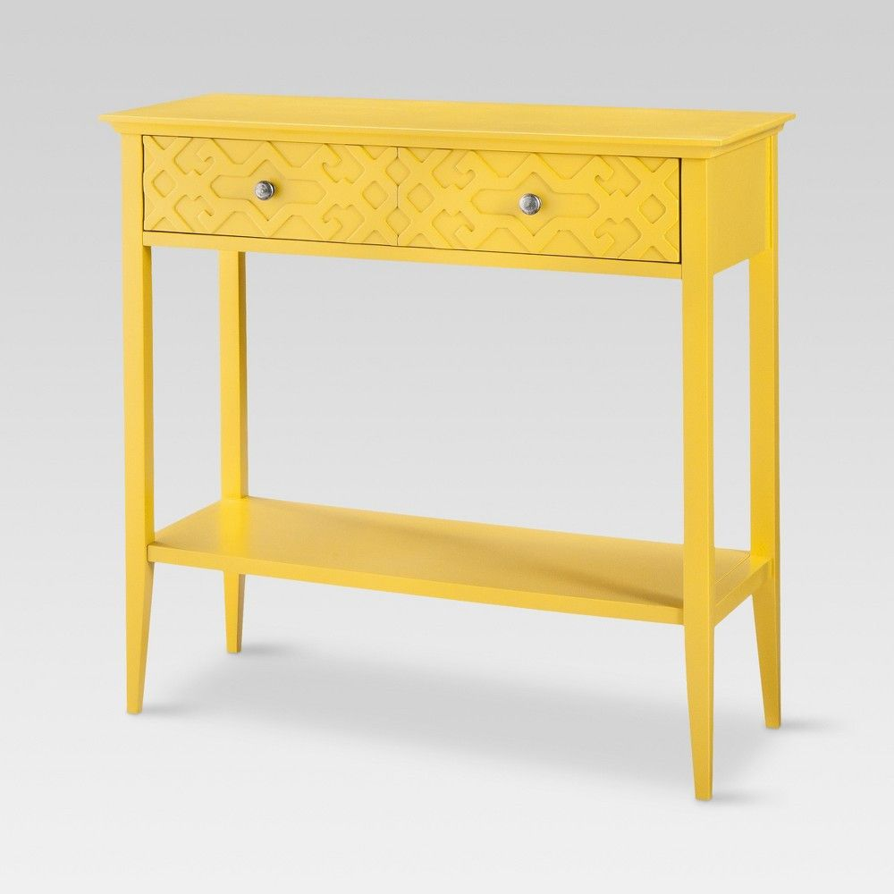 Fretwork Console Table Yellow Threshold Summer Wheat Target
