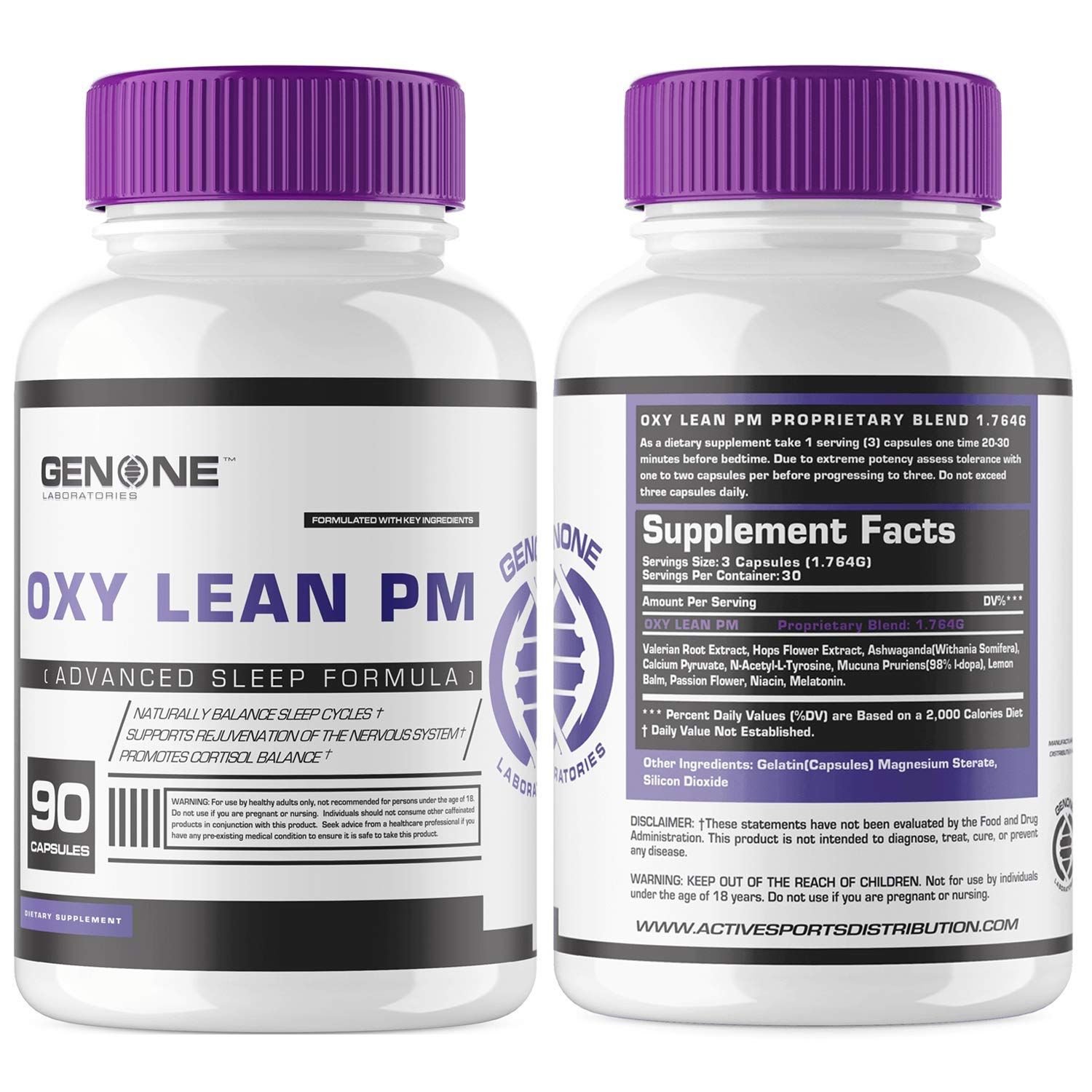 Oxylean Pm Sleep Formula All Natural Ingredients With Melatonin Ashwaganda Passion Flower Extract Herbal Supple Herbal Supplements Health Supplements Herbalism