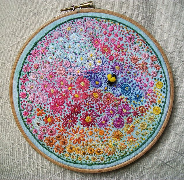 Amazing #embroidery...  Estou Encantada!!  Lindérrimo... Parabéns!!