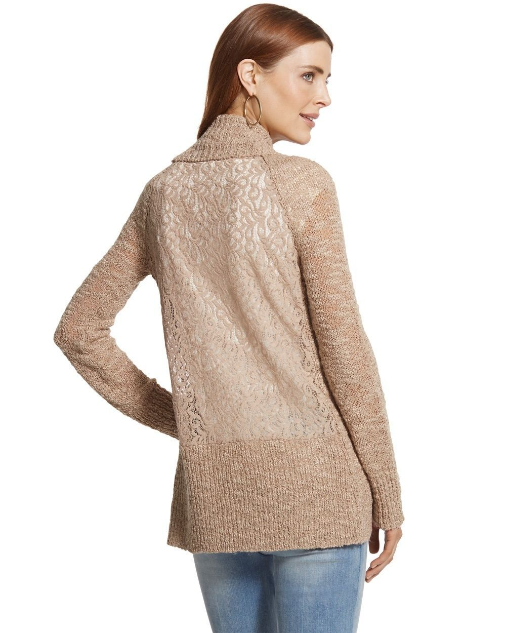 Chico's Women's Lace Back Lara Cocoon Cardigan | Cardigans For Men ...