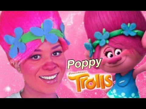 Diy Poppy Trolls Disfraz Youtube Holloween Fasching Trolle