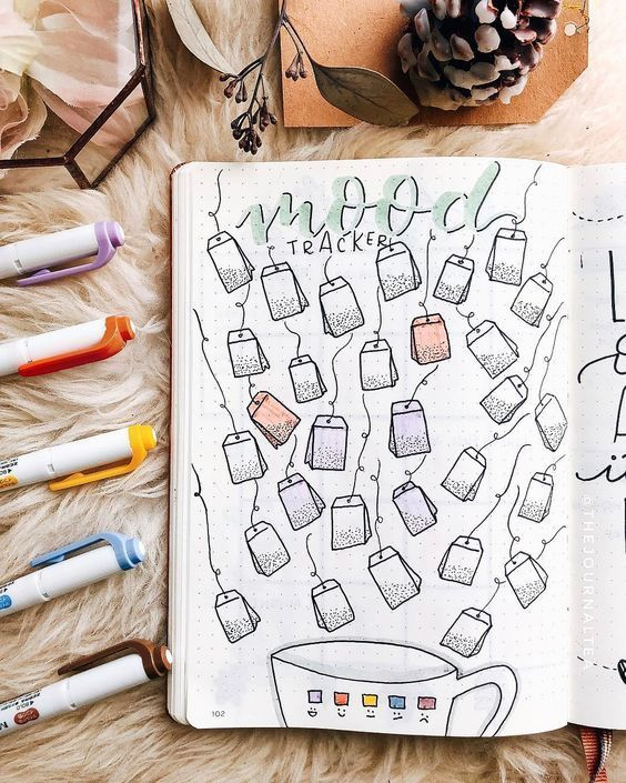 Über 30 einzigartige Mood-Tracker-Ideen für das Bullet-Journal, mit denen Sie geistig fit bleiben - Diyideasdecoration.club