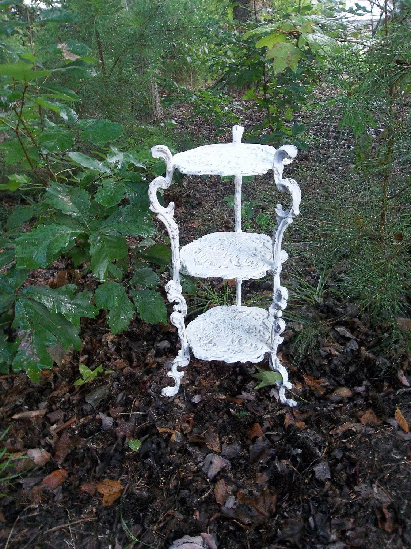 Vintage Cast Iron Garden Decor Cake Stand Cupcake Stand Wedding ...