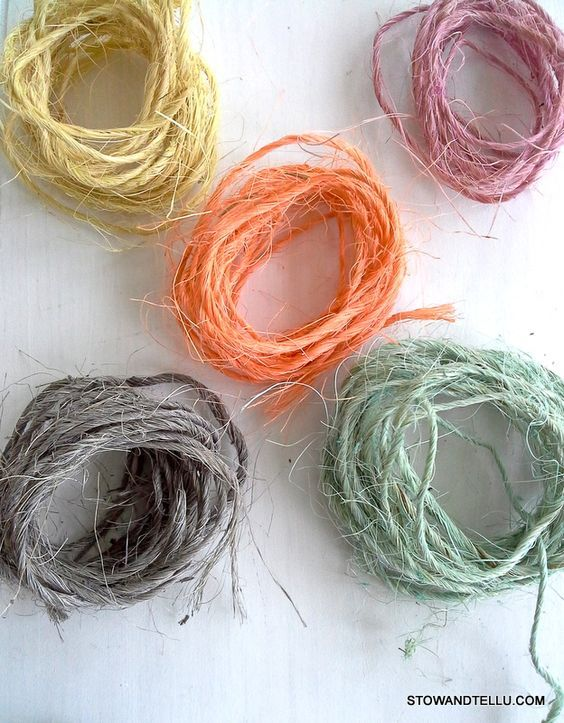 How To Dye Sisal Twine With Paint To Use For Gift Wrap Crafts